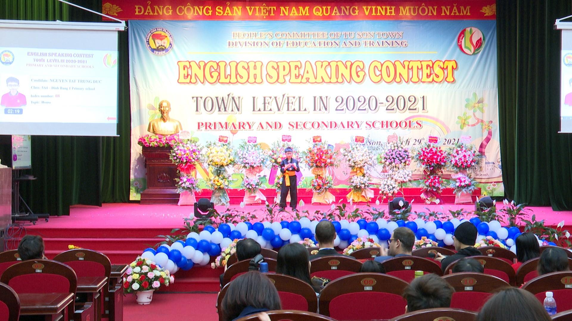 Hội thi hùng biện tiếng Anh cấp THCS và Nói giỏi Tiếng Anh cấp tiểu học năm học 2020 – 2021 ở Từ Sơn